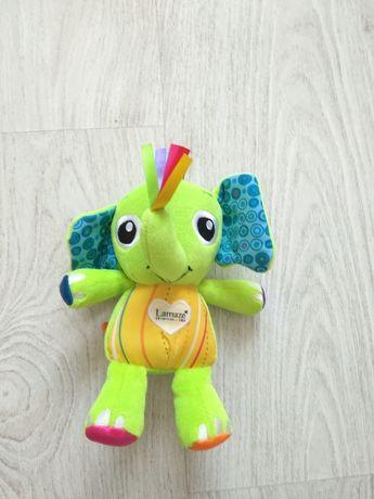 Мягкая игрушка TOMY с пищалкой и шелестящими ушками