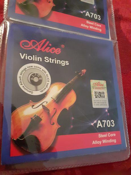 Conjunto de 4 Cordas de Violino Novo