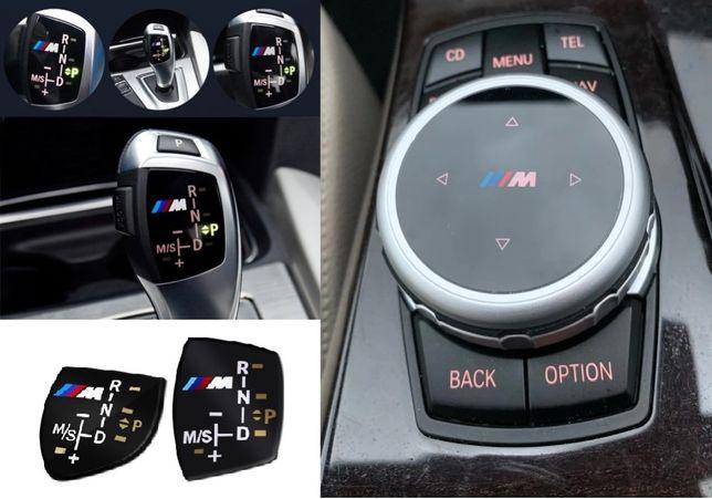 Capa BMW M manete auto   Botão consola BMW M