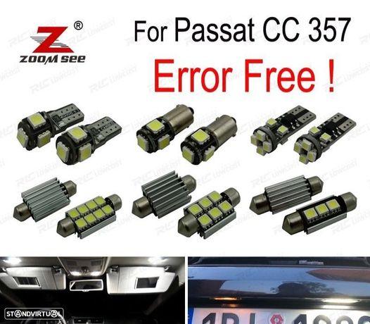 KIT COMPLETO DE 14 LÂMPADAS LED INTERIOR PARA VW PASSAT CC 357 2009-2011