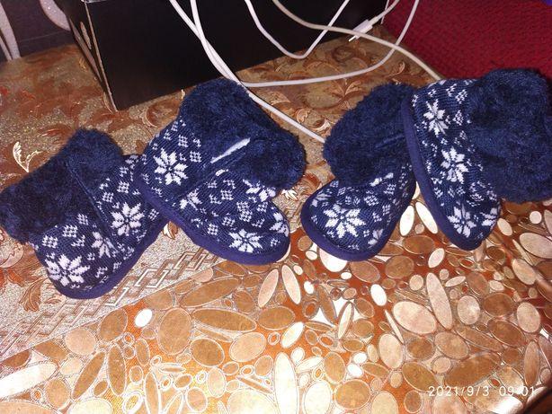 Пинетки сапожки для малышей 0-3 м.