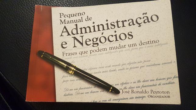 Pequeno manual de Administração e Negócios - coletânea de frases