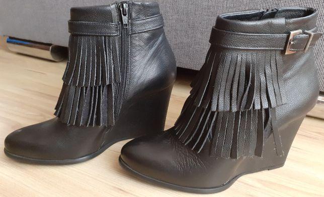Botki marki Badura, rozmiar 39, czarne