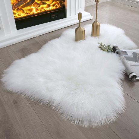 Меховой коврик шкурка, 90 х 55 см. Эко коврик, искусственная шкурка