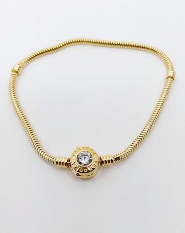 Złota bransoletka próba 585 Długość 18 cm