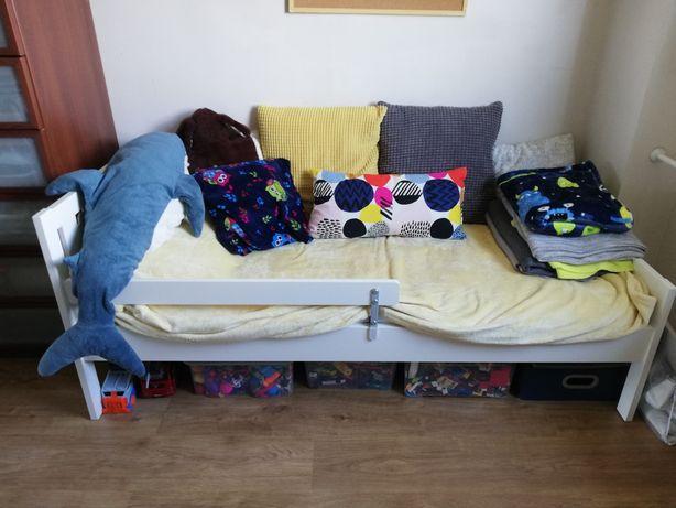 Łóżeczko dziecięce Ikea Kritter barierka materac białe 70x160