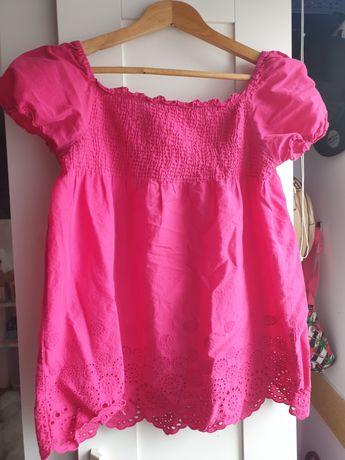 Bluzka koszulka dla dziewczynki na wiosnę  różowa xl 11/12 lat