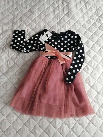 Piękna sukienka dla dziewczynki, rozmiar 116