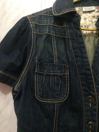 Туника-платье джинсовая