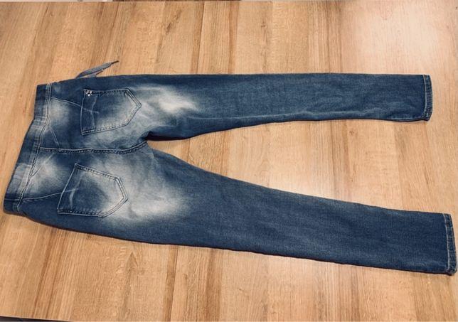 jeans damskie Spodnie damskie wysoki stan  -rurki rozm.36 97% bawełna
