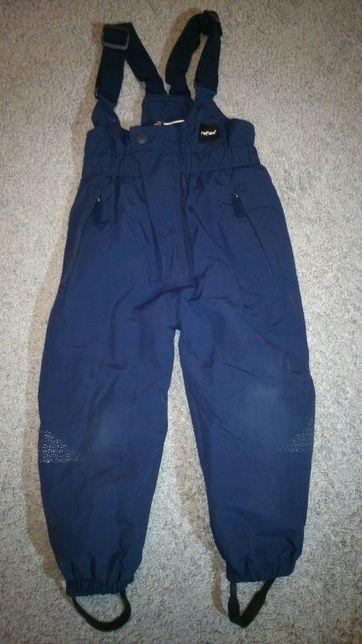Spodnie narciarskie rozmiar 98, ocieplane chłopięce granat na szelkach
