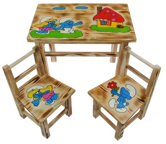 Stolik stoliczek + 2 krzesełka komplet dla dzieci