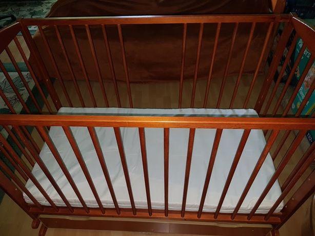 Łóżeczko dziecięce bujane - kołyska + GRATIS