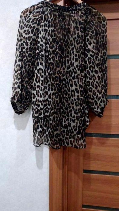 Шифоновая Блузка/Леопардовый Принт/ р. 50-52 Ровно - изображение 1
