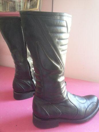 Кожаные сапоги Armani Шкіряні чоботи 36 р