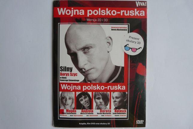 NOWE Wojna polsko ruska - film DVD, książka oraz okulary 3D