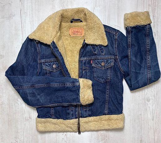 Levis kurtka jeansowa Sherpa S 36 ocieplana oryginał katana