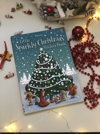 Little Sparkly Christmas Sticker Book,рождественский активити бук