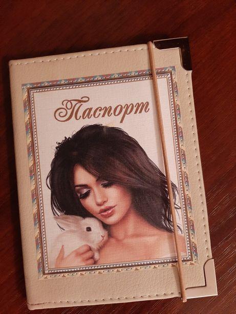 Обложка на паспорт. Ручная работа
