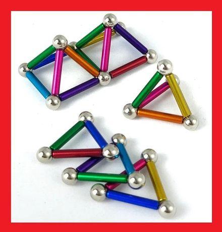 Магнитный конструктор Neo 36 палочек и 26 шариков Разноцветный