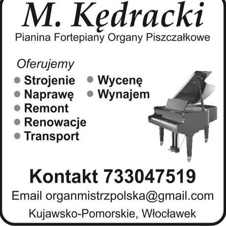 Strojenie naprawa pianina fortepiany organy