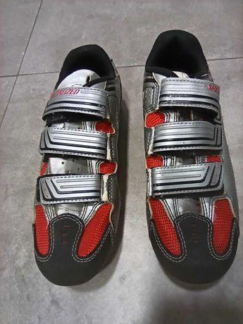 Pedais + Tênis sapatos ciclismo Specialized 41 encaixe SPD