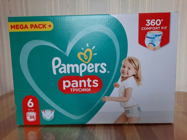 Подгузники pampers pants 6 трусики (66шт)