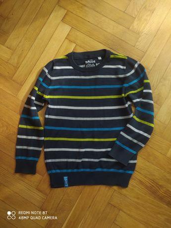 Sweter w paski chłopięcy 122cm