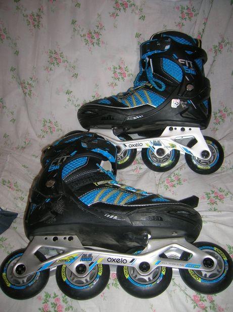 Коньки ролик. OXELO с ботинками р.38-41(24-26см) max.wheels size 80мм