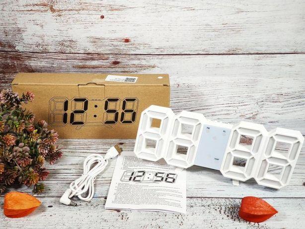 Электронные лед Led часы с будильником и термометром НОВЫЕ