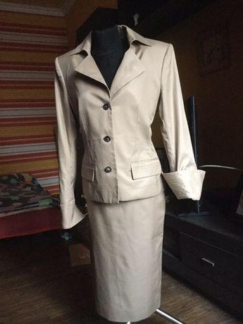 Деловой костюм пиджак+юбка Yves Saint Laurent S-M YSL