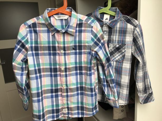 Elegancka koszula, letnia, z długim rękawem r. 116 H&M, Palomino