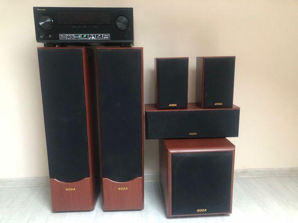 Głośniki 5+1 Koda AV702+Subwoofer SW-1000+PIONEER VSX-323-K