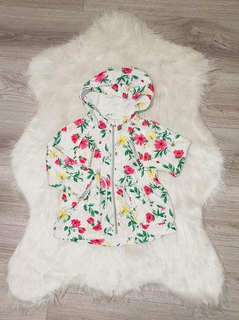 F&F płaszczyk przejściowy r. 86 dziewczynka płaszcz
