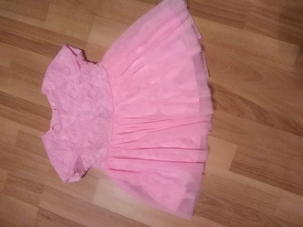 Sukieneczka sukienka 74cm rozowa