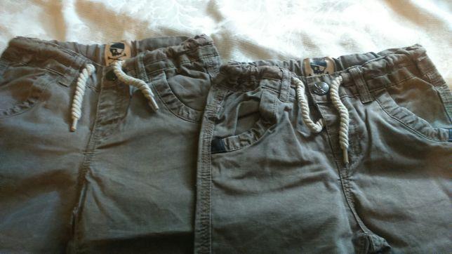 Spodnie chłopięce dla bliźniąt rozm 86