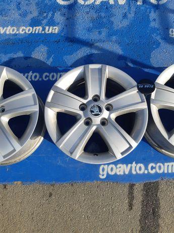 GOAUTO комплект дисков Skoda 5/112 r15 et50 6.5j dia57.1 в хорошем сос