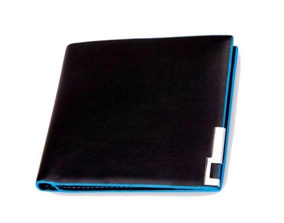 Carteira Preta/Azul - Homem