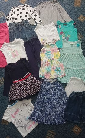 пакет фирменных вещей (много) для девочки 3-4г: платья, футболки, юбки