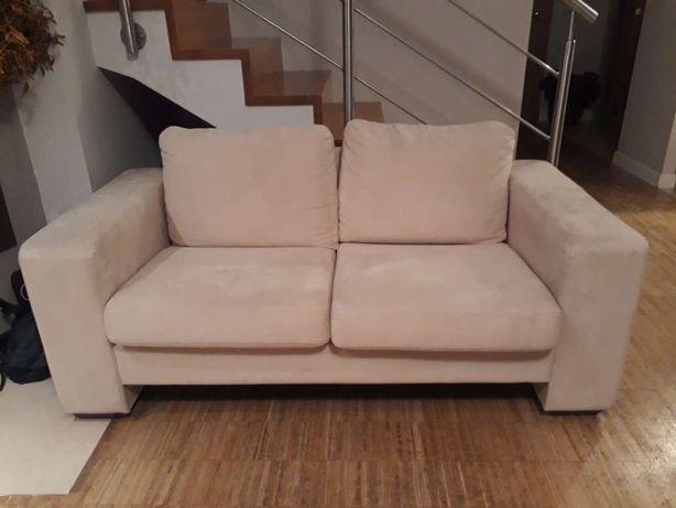 Sofa 2 osobowa z podnóżkiem, stan db