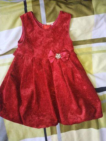 Детское платье бордо