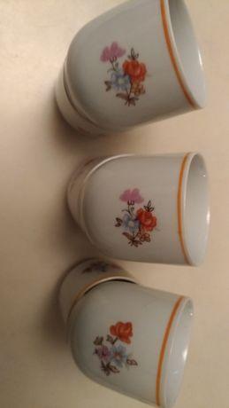 Kieliszki do jajek stara porcelana 6 sztuk