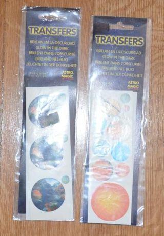 Transfers Fosforescentes(brilham no escuro) Planetas:Marte,Saturno,etc