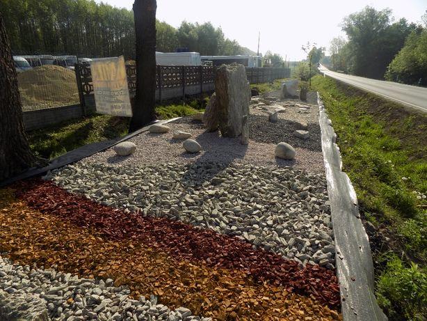 zrębki skład - kamień ogrodowy, nawozy,tkaniny
