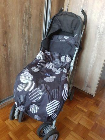 Wózek parasolka Chicco ze śpiworkiem na zimę