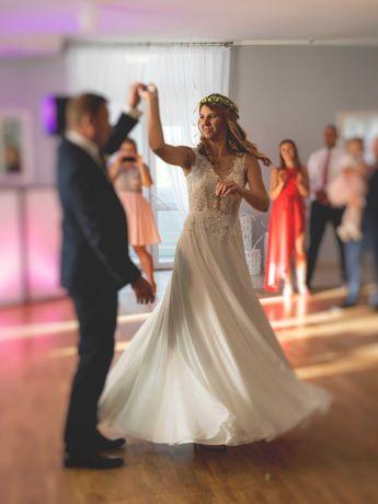 Suknia ślubna M (38) - 176cm+6cm
