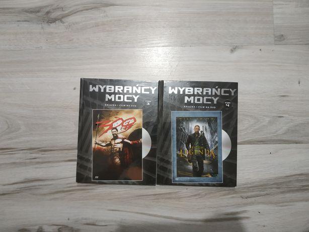 Wybrańcy Mocy Tom 3 i 4 Jestem Legendą i 300 Spartan nowe książka+film