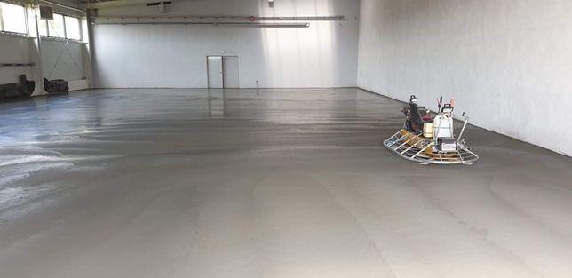 Wylewki posadzki przemysłowe beton zacierany wylewki betonowe posadzki