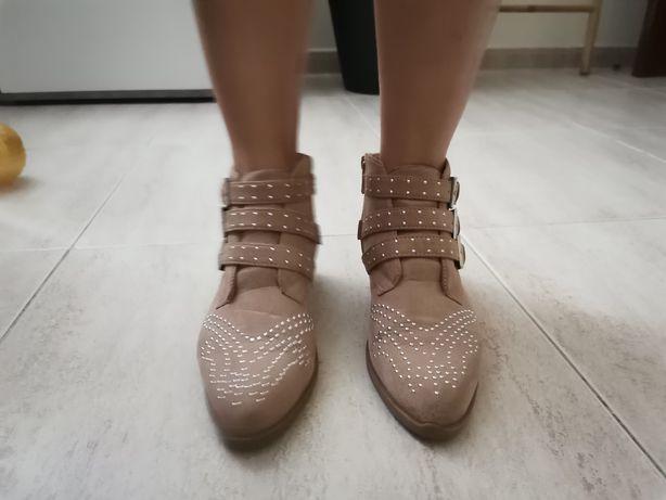 Botas camurça rosa