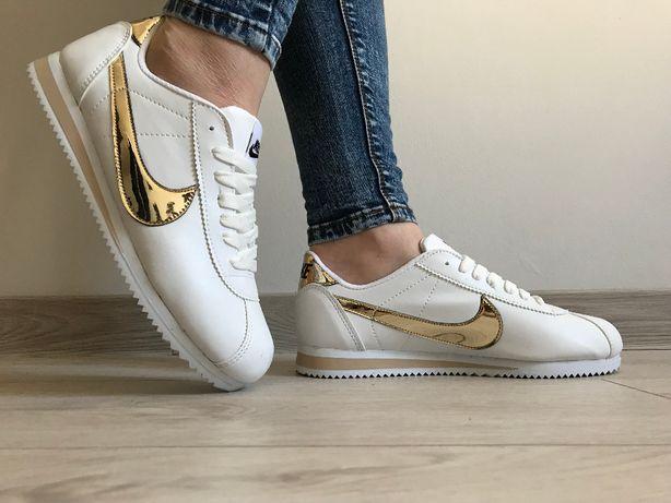 Nike Cortez. Rozmiar 36,37,38,39,40,41. Kolo biało- złoty.